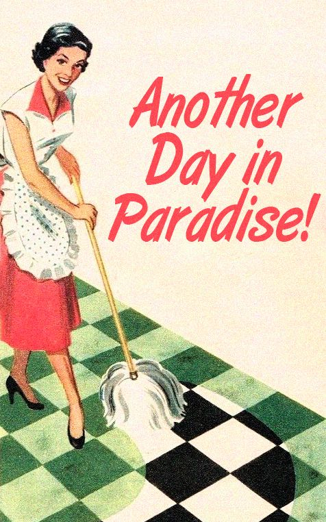"""Another day in paradise! I don't know but I just had to laugh when I saw this.... I know it was a serious ad in its day, but I said out loud """"Oh Fuck Really!?"""""""