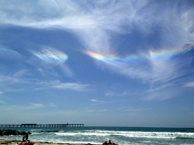 SoCal Spectacle: A Circumhorizontal Arc    The Multicolored Area In The Cirrus  Clouds
