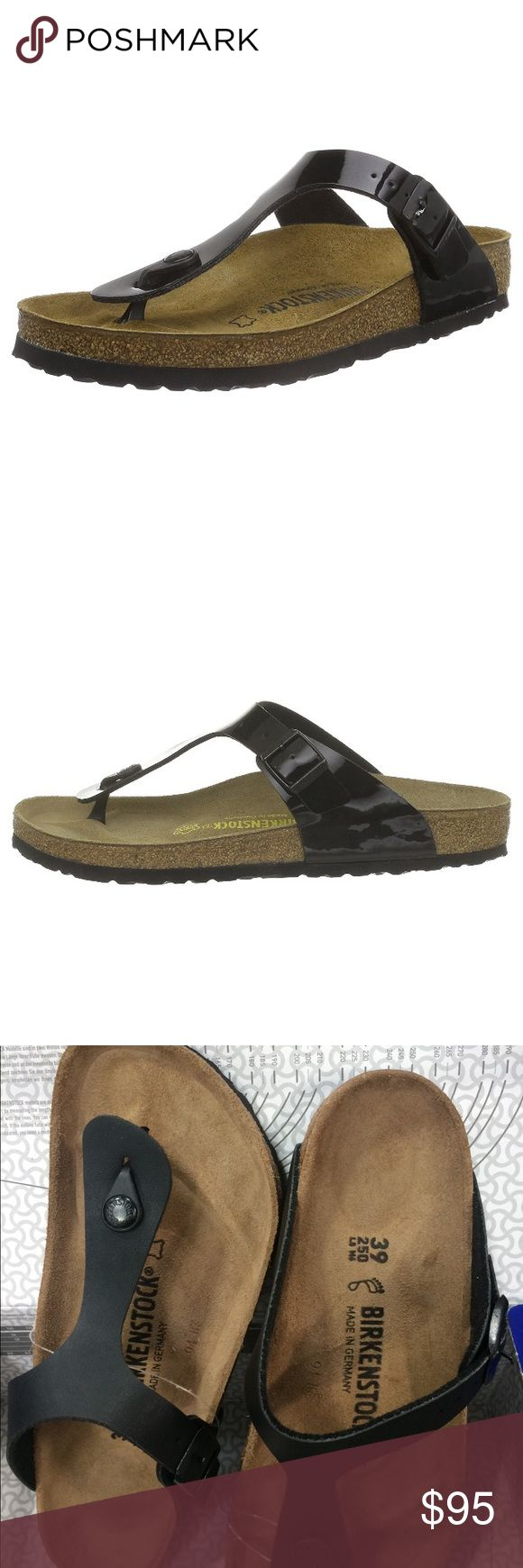 """✨NWT Birkenstock Sandals✨ NWT Birkenstock Sandals Gizeh  Imported Rubber sole Shaft measures approximately 1"""" from arch Heel measures approximately 0.75"""" Platform measures approximately 0.5"""" Thong sandal featuring rubber toe post with logoed medallion and adjustable vamp strap with buckle closure .Contoured footbed with cork midsole Birkenstock Shoes Sandals"""