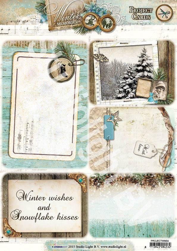 Studio Light serie:  ---Winter Memories---  Project Cards