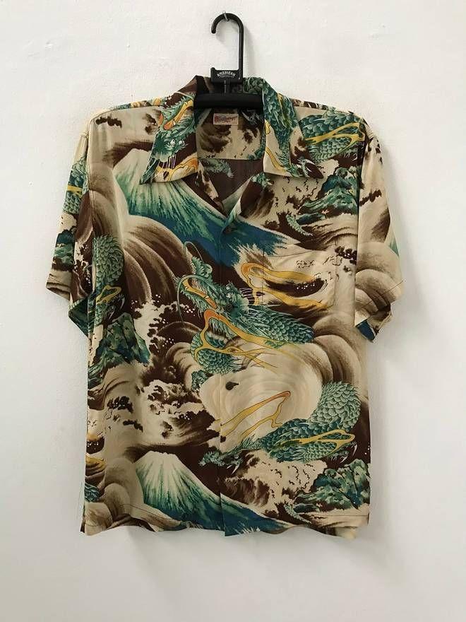 5e2b76438 The Finest Japanese Hawaiian Shirt Maker Sun Surf Made in Japan Big Dragon  Mount Fuji 100% Rayon Aloha Shirt / Rockabilly Shirt in 2019 |  C-L-O-T-H-E-S❤ ...
