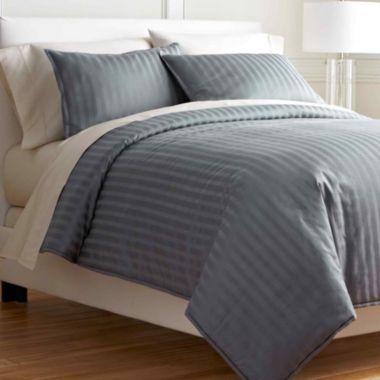 Royal Velvet 174 400tc Damask Stripe Cotton Comforter Set