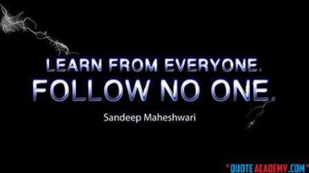 Sandeep Maheswari- A great Motivator... #Quoteacademy