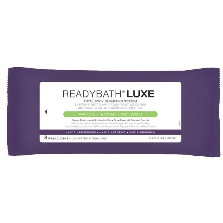 Medline ReadyBath Luxe Heavy Weight Scented Cleansing Cloths