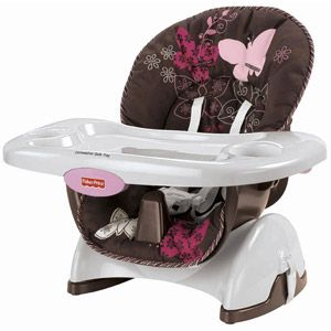 Fisher-Price - Space-Saver High Chair, Mocha Butterfly @ walmart 44.00