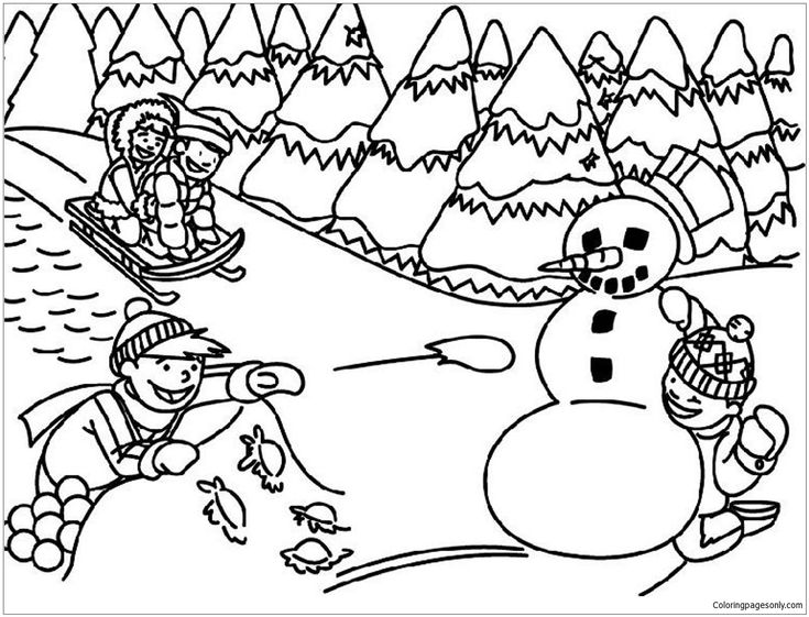 9 best Winter Coloring Pages images on Pinterest | Colouring in ...