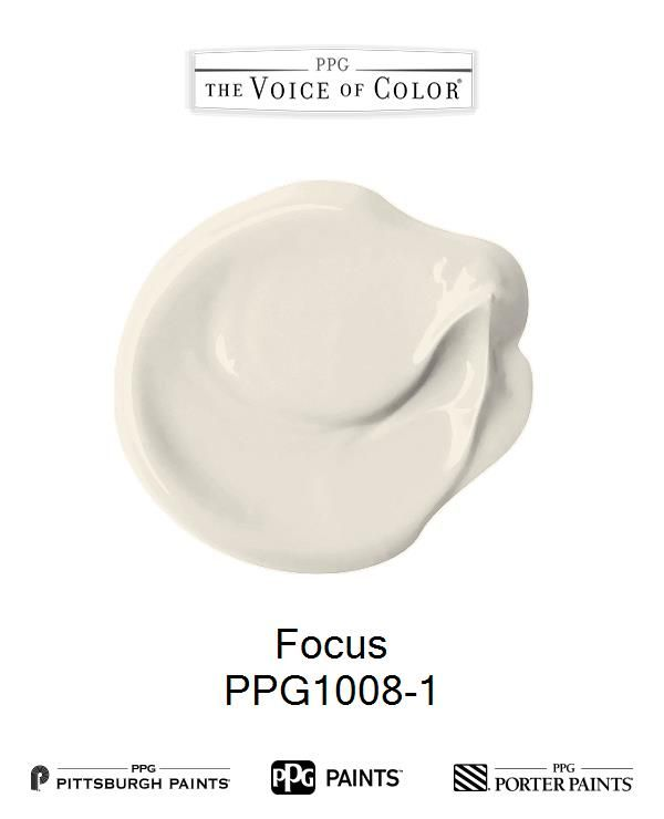 Focus is a part of the Off-Whites collection by PPG Voice of Color®. Browse this paint color and more collections for more paint color inspiration. Get this paint color tinted in PPG PITTSBURGH PAINTS®, PPG PORTER PAINTS® & or PPG PAINTS™ products.