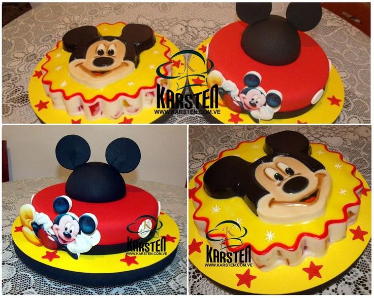 Mickey Mouse. Torta y Gelatina: Torta De, Birthday, Mickey Mouse, Gelatina Jello, Cakes, Cumpleaño Boys, Gelatinas Decoradas, Gelatina Jell-O, Cumpleaños Boys