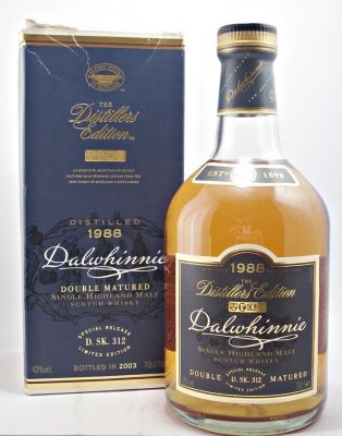 Had this at the Islay Bar in Glasgow!Dalwhinnie Scotch Whisky 1988 Double Matured 43% 70cl