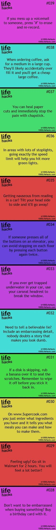 25 Useful Life Hacks