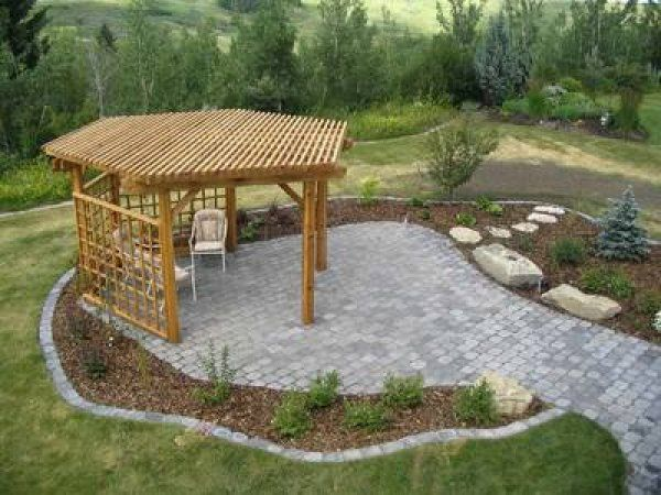 Here's a six sided patio trellis.