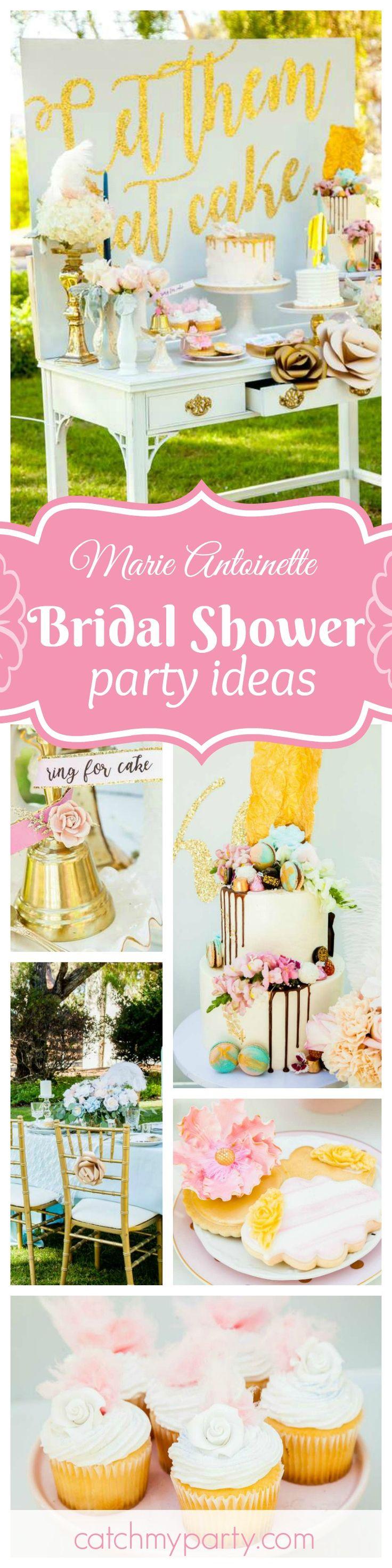 craft ideas homemade bridal shower decoration%0A Don u    t miss this gorgeous Marie Antoniette inspired garden Bridal Shower   The dessert table