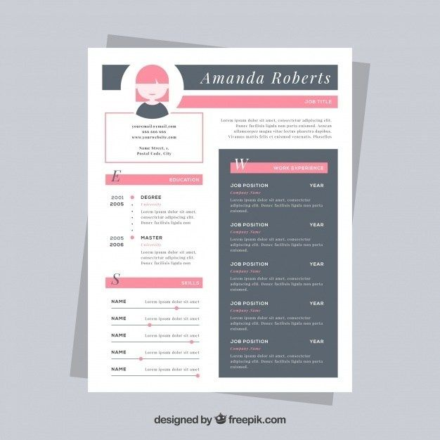 Nice Resume Template Vector Free Download In 2020 Resume Template Cv Template Downloadable Resume Template