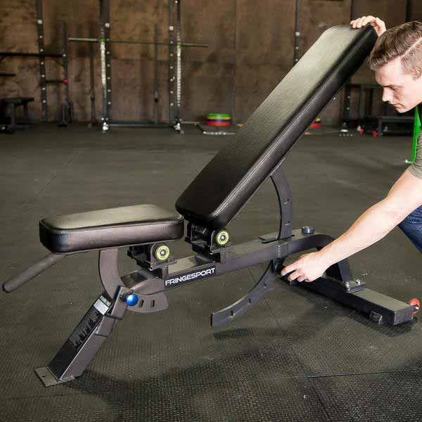 What You Need to Know About Our Adjustable Bench Add variety to your workout with an Adjustable Bench by FringeSport. This bench easily adjusts for whatever bench work you have in your workout. - 7 Ad