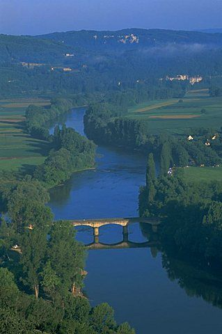 River Dordogne from Domme, Dordogne, Aquitaine, France