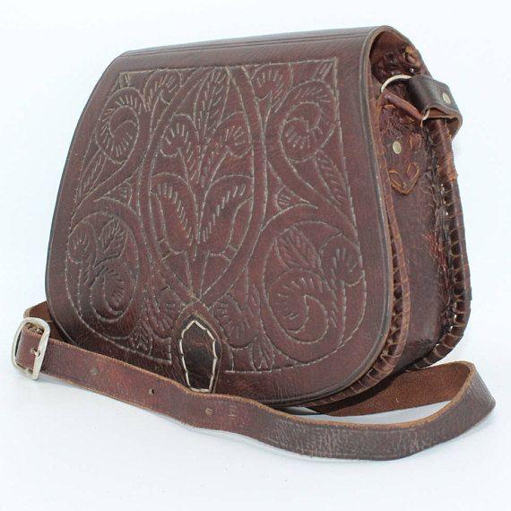 Leather Saddle BagBrown leather Bag Leather Bag Cross-body