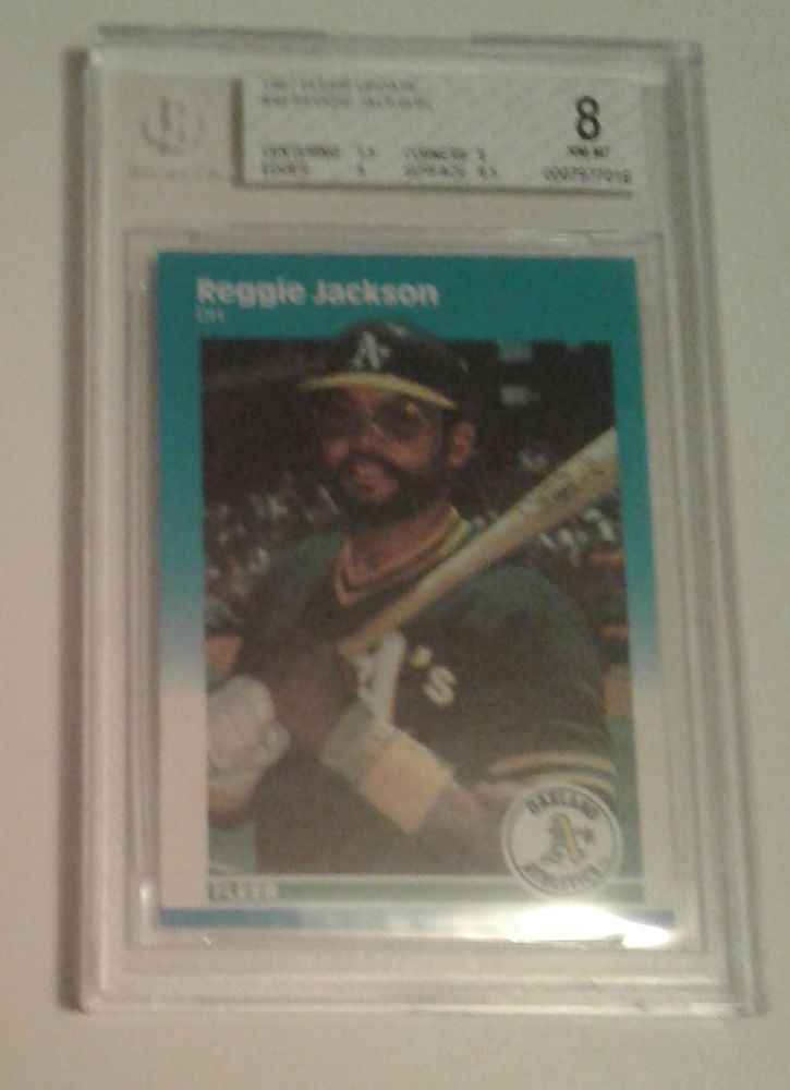 1987 FLEER UPDATE REGGIE JACKSON # 49 BGS 8 #Athletics #OaklandAthletics