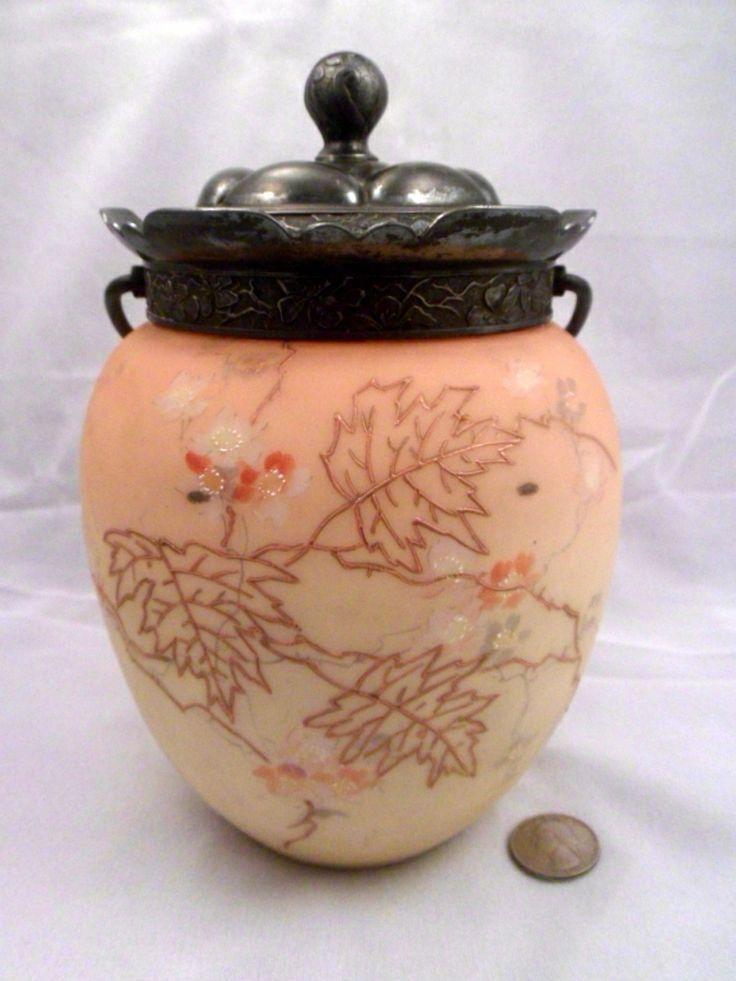 Mount Washington Crown Milano Biscuit Jar, Cracker Barrel