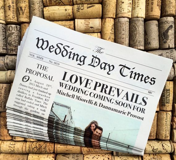25+ Best Ideas About Wedding Newspaper On Pinterest