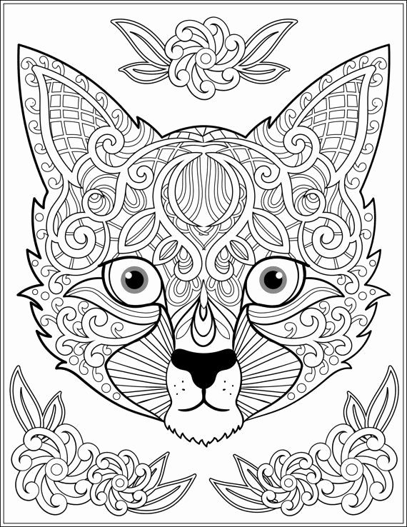 Adult Coloring Pages Animal Patterns In 2020 Animal Coloring