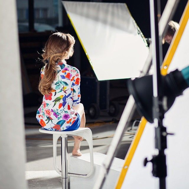 W damskiej kolekcji będzie kolorowo #backstage #wólczanka #photoshooting #ss15 #campaing #wiosna #kwiaty