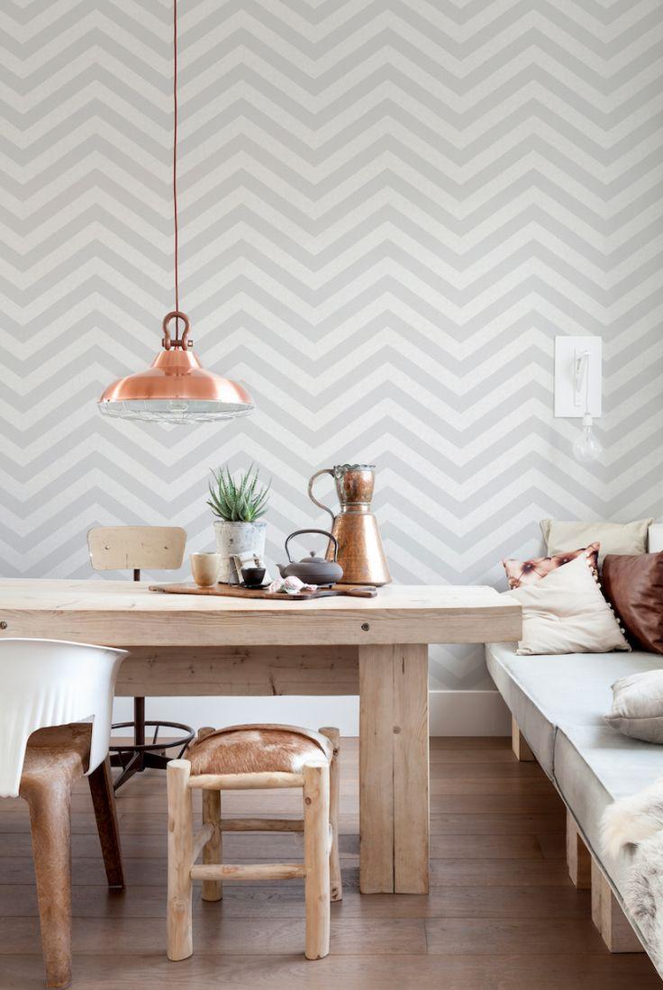 BorgeTapet7 chevron-mønsteret – her i en dempet variant fra kolleksjonen Art of Living.