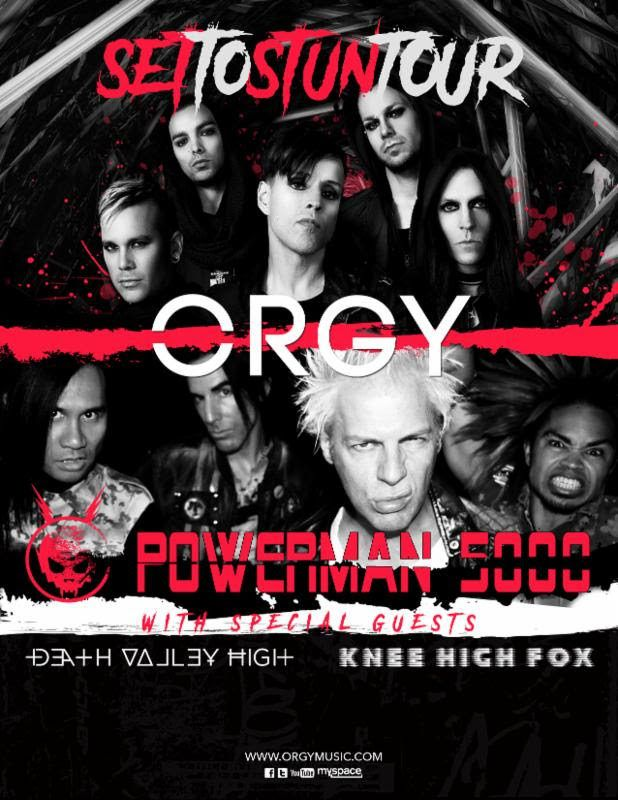 ORGY Announces North American Co-Headlining Tour with POWERMAN 5000 – ORGY Announces North American Co-Headlining Tour with POWERMAN 5000  Featuring Special Guest Support from DEATH VALLEY HIGH & KNEE HIGH FOX  Watch a Tour Announcement Video Here  European and South American Headline Tours to Follow  Brand New Full-Length Album Coming Soon, Showcasing... #orgy #pm5k #settostuntour