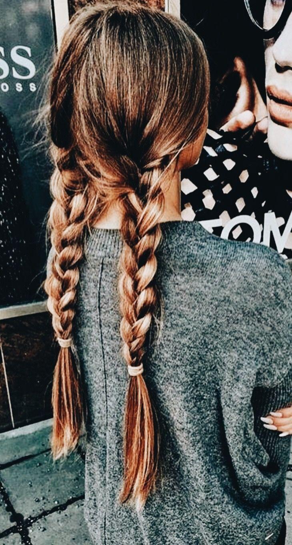 Tumblr, Haare, Frisuren, Frisuren für die Schule, Teenager, Geflecht, Zopf, chaotisch, cas …
