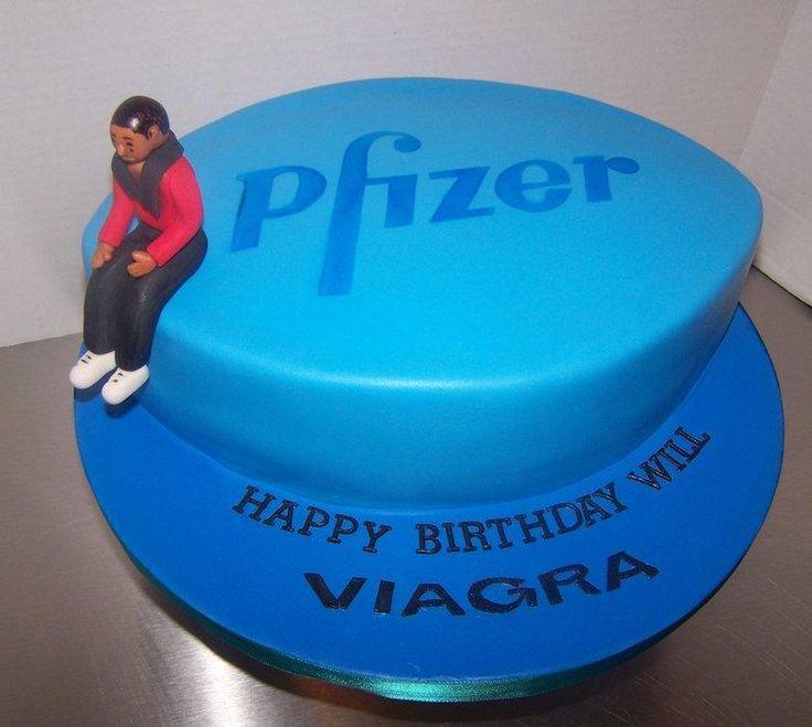Viagra Pill Birthday Cake