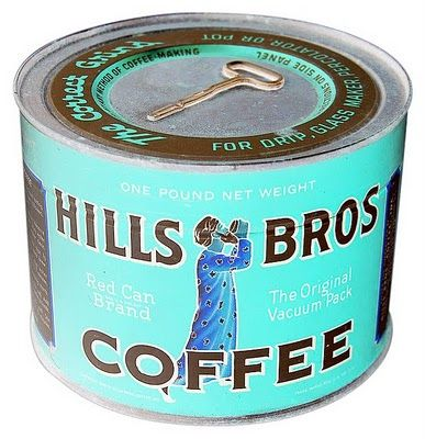Hills_bros coffee tin - not key on top-