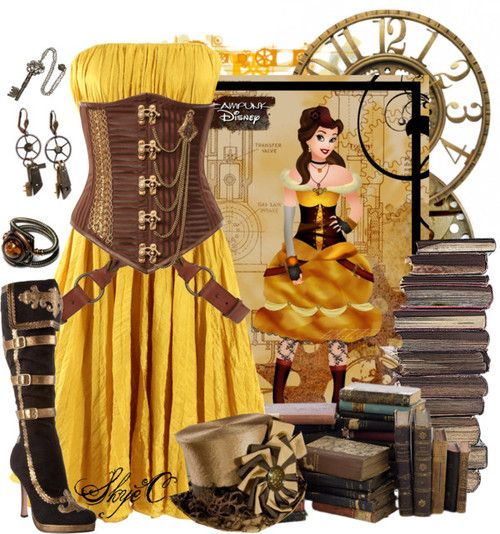belle steampunk disney�s beauty and the beast by
