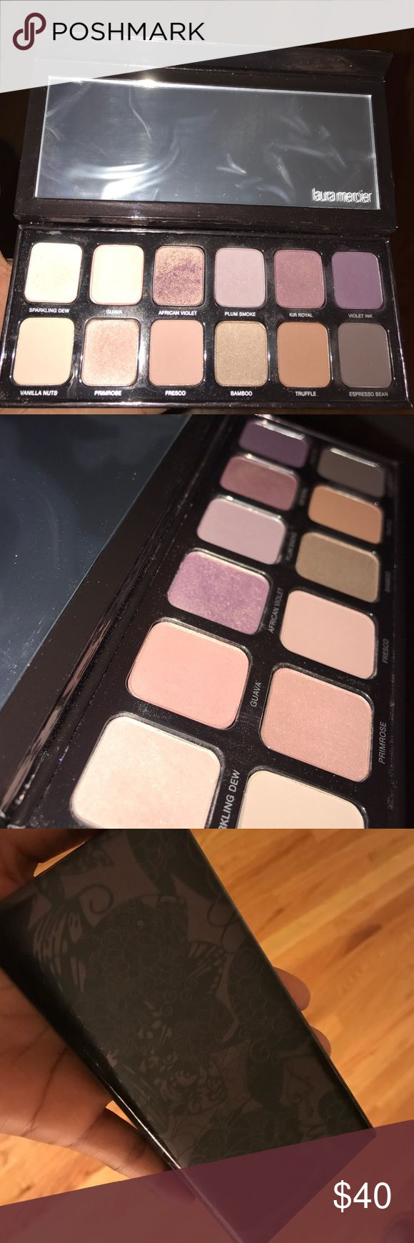 Laura Mercier eyeshadow pallet Highly pigmented range featuring a dozen eye shadows that range from cool to warm shades. Only used to swatch some colors weren't even touched. Plastic on mirror is still on! Sephora Makeup Eyeshadow