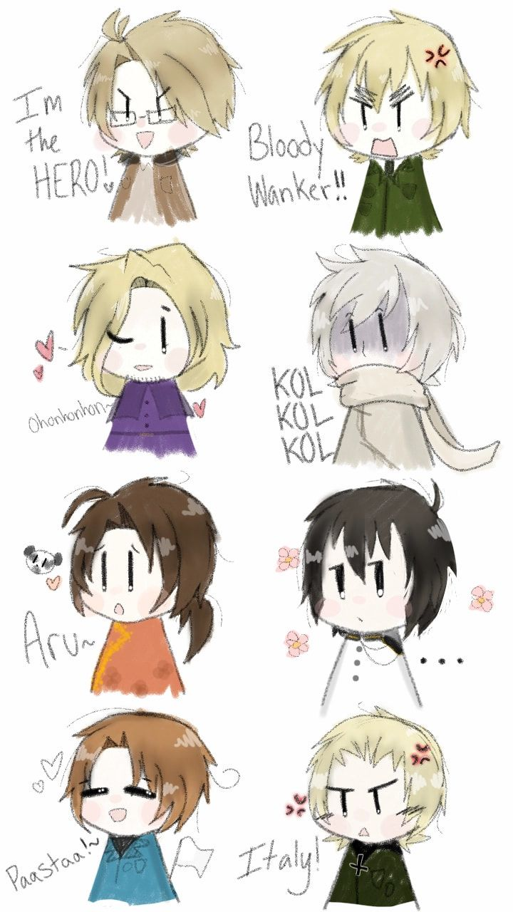 I can't believe I managed to fit all Axis + Allies! Anyways, Happy late Birthday to Japan and Happy Birthday to Spain!~ #hetalia #HetaliaAxisPowers #chibi #cute