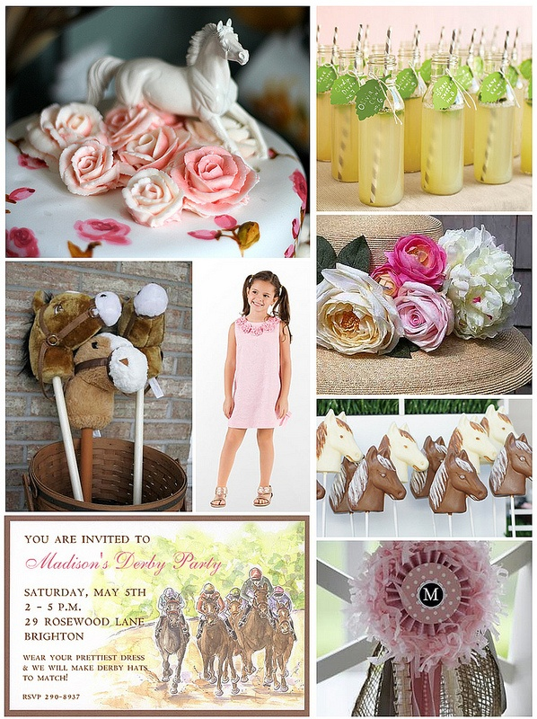 Love including the bambinos in Derby day!! Link to mint lemonade... Kentucky Derby themed party for children