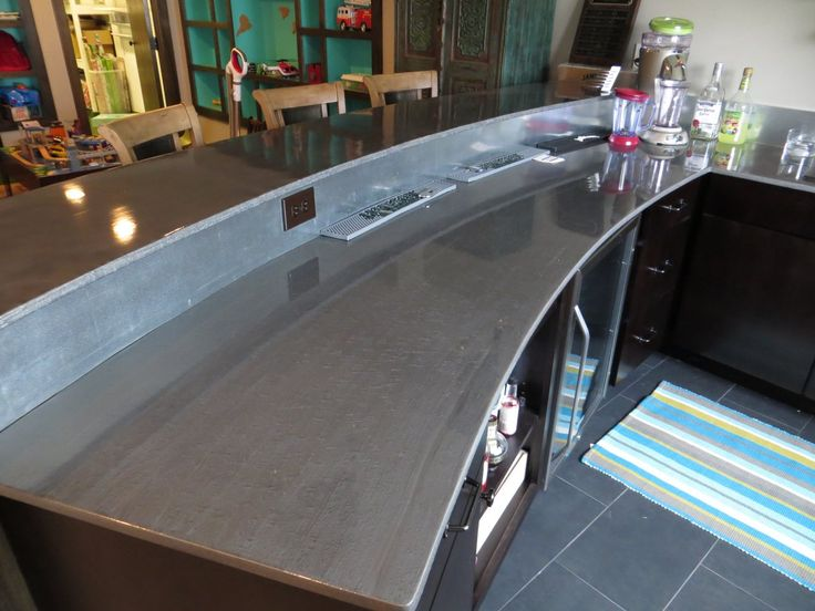 The 25 best ideas about epoxy countertop on pinterest for Concrete bar top ideas