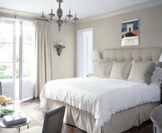 Beige Wall Paint Ideas for your Rooms. Love the bed!
