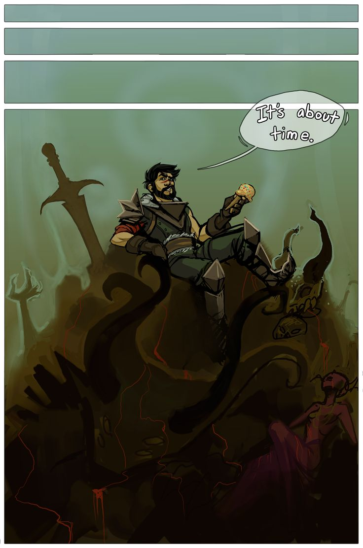 The whole comic is quite entertaining. Fenris to the rescue! Sort of...