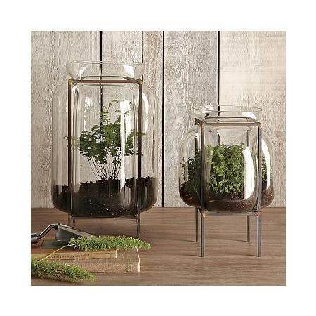 Glass containers from West Elm