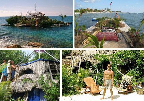 Spiral Island, floating island 250,000 plastic bottles