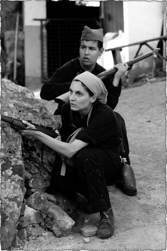 Esta foto es una recreación realizada por un grupo asturiano de memoria histórica, no es una foto histórica, no confundirla