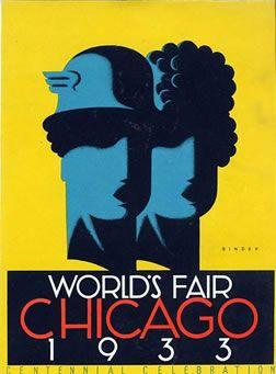 Art Deco poster for the Century of Progress fair, 1933 Chicago