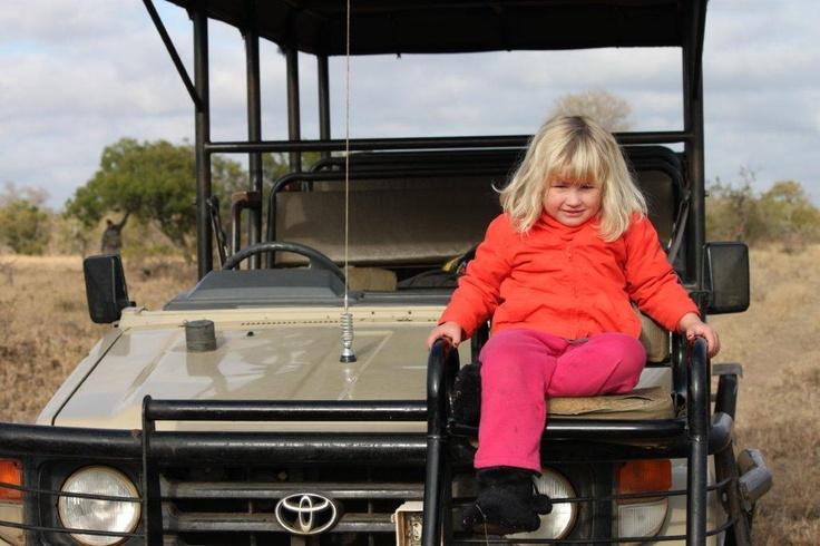 Liesl's little one enjoying a game drive. #safari