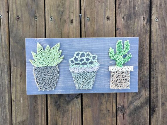 Succulent String Art String Art Sign Nail And String Art Farmhouse Succulent Wood Gallery