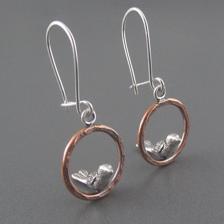 Sterling Silver 20 mm Hoop Earrings with Dangling Beads ndLXkq