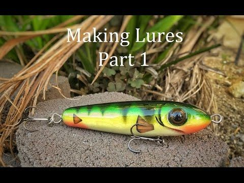 How to make topwater lures : Part 1 (turn bait, drill through hole , dri...