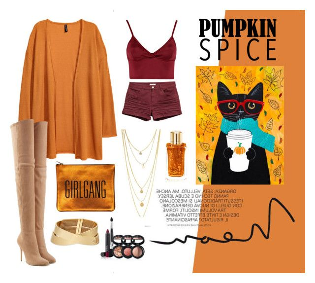 """Spices of your pumpkin"" by sheliniap on Polyvore featuring Lipsy, Balmain, Lancôme and Laura Geller"