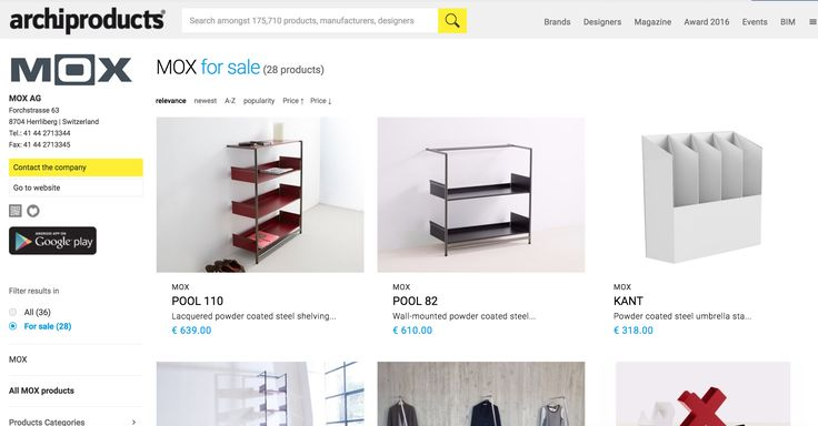 MOX bei www.archiproducts.com