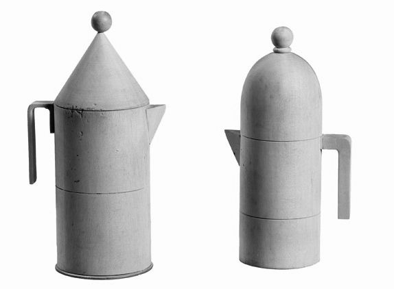 Wooden Models of 'La Conic' and 'La Cupola' Espresso Makers, Designed by Aldo Rossi for Alessi. Models Made by Giovanni Sacchi. Image from designboom.