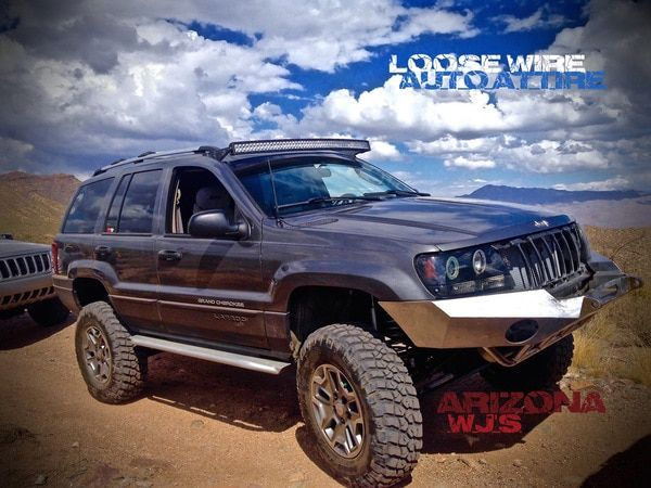 1999 2004 Jeep Grand Cherokee Wj Brackets For 52 Curved Light Bar Curved Led Light Bar Jeep Wj Jeep Grand