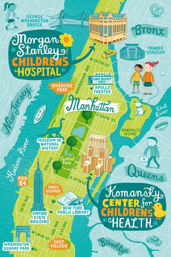 Map illustration - Linzie Hunter